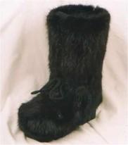 Botte castor noir, lacet, zip